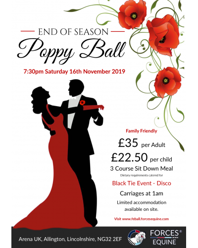 Forces Equine Poppy Ball Adult Ticket